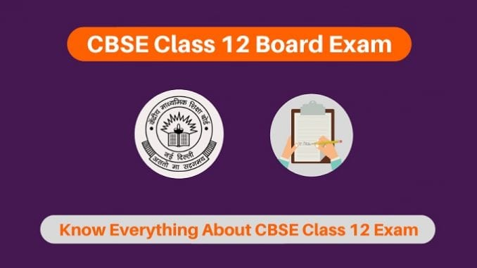 CBSE 12th Board Exams