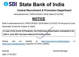 SBI Clerk Pre Exam