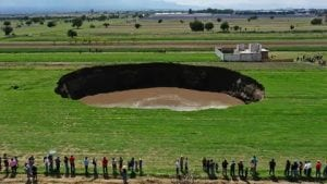 massive sinkhole