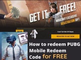 pubg redeem code free