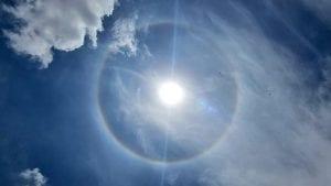 rainbow around sun