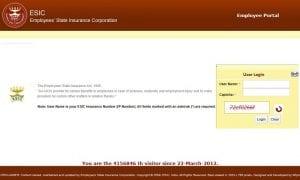 www.esic.nic.in login