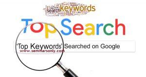 google top keywords today
