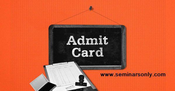 admit card 1