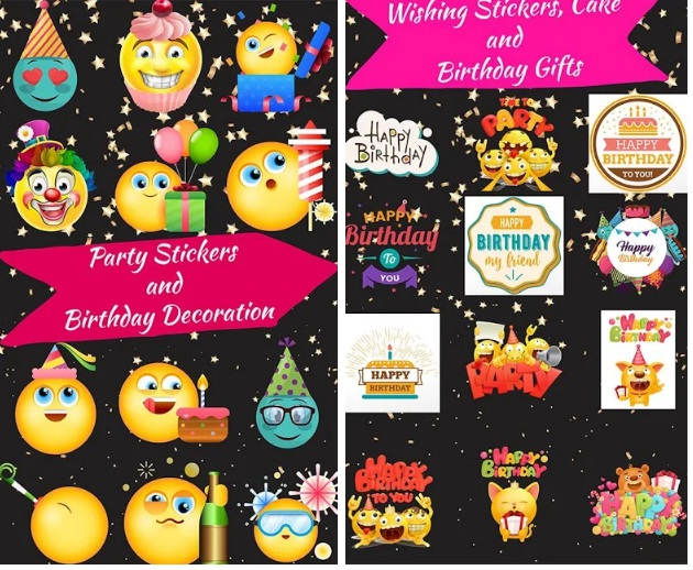 Happy Birthday Stickers For Whatsapp And Facebook