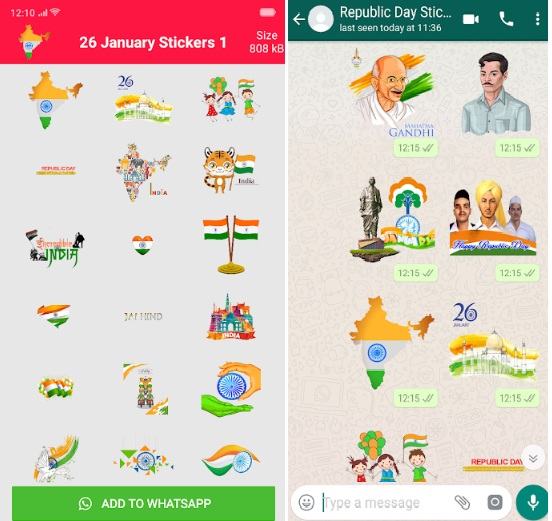 Happy Republic Day Stickers 2019 for Whatsapp and Facebook