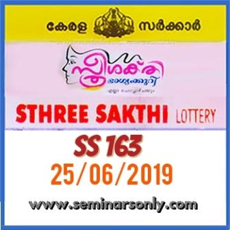 LIVE: Kerala Lottery Result 25 6 19 Sthree Sakthi SS 163 Results Today