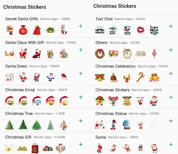 Christmas Stickers For Whatsapp And Facebook 2019 Apps On