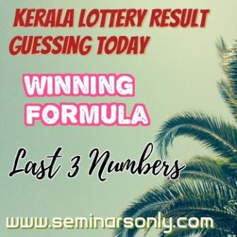 Kerala Lottery Guessing Today Last 3 Numbers