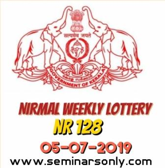 LIVE: Kerala Lottery Result 5 7 19 Nirmal Weekly NR 128 Results Today