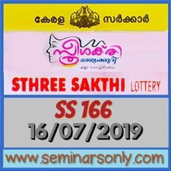 LIVE: Kerala Lottery Result 16 7 19 Sthree Sakthi SS 166